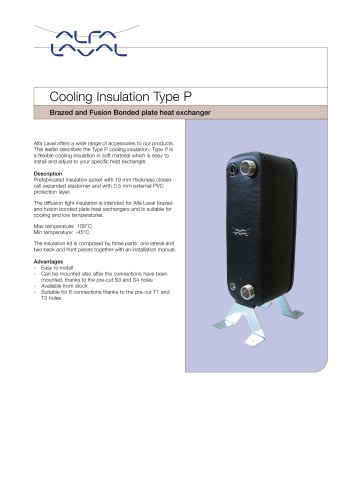 Cooling Insulation Type P