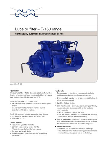 Lube oil filter ? T-160 range