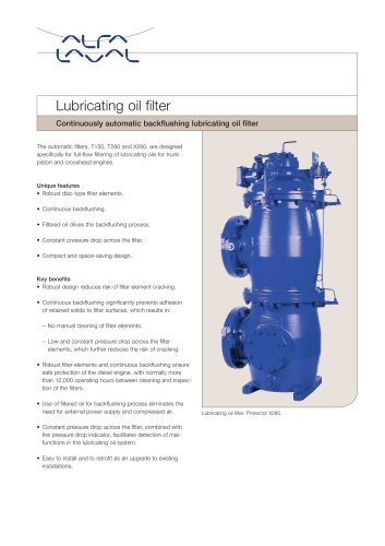 Lubricating oil filter