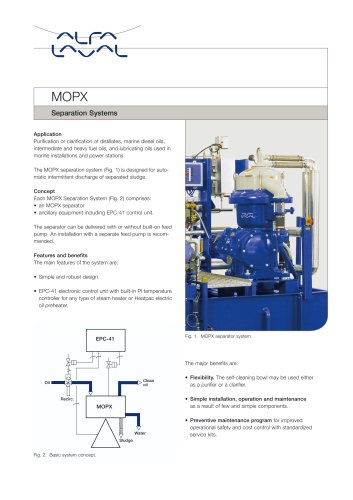 MOPX Separation Systems