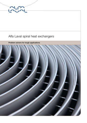 Spiral heat exchanger:Alfa Laval spiral heat exchanger