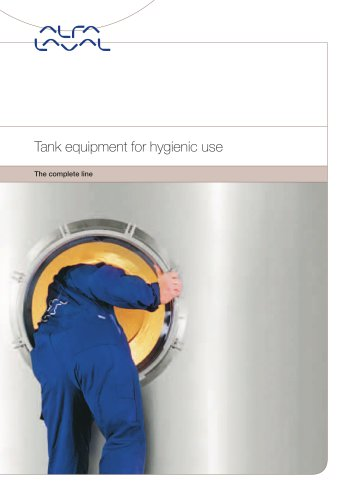 Tank equipment for hygienic use