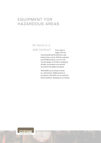 Equipment for hazardous areas