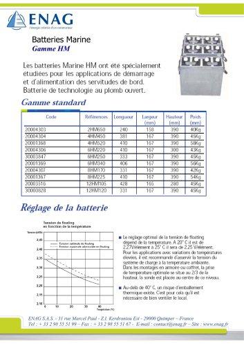 Batterie marine au plomb