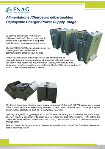 Battery charger – 24V-265A – Mobile