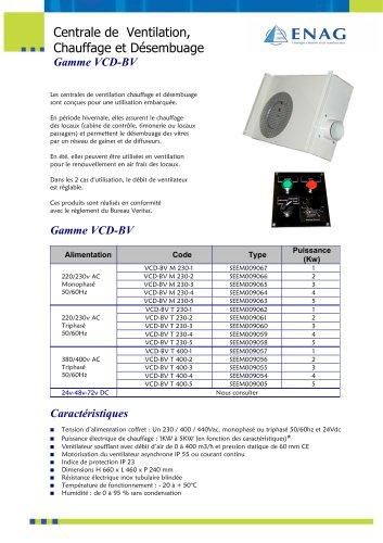 Centrale de chauffage et de désembuage AC et DC