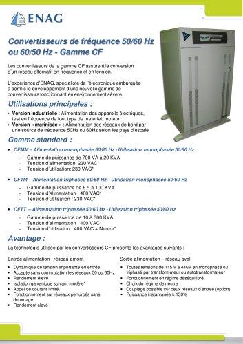 CONVERTISSEUR DE FRÉQUENCE 50HZ-60HZ OU 60-50HZ – GAMME CF