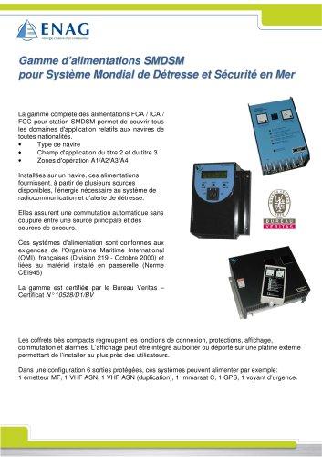 Gamme d'alimentations SMDSM pour Système Mondial de Détresse et Sécurité en Mer