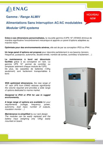 Gamme ALMIV-ASI 5 à 10KVA modulaire