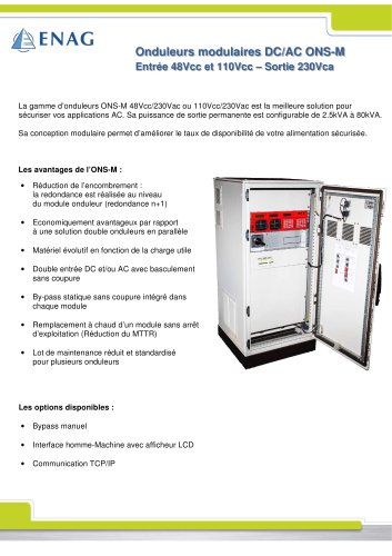 Gamme ONS-M – Ac/dc – Modulaire