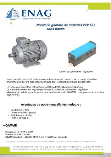 Nouvelle gamme de moteurs 24V CC sans balais