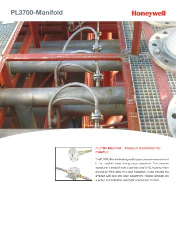 PL3700 Manifold Datasheet