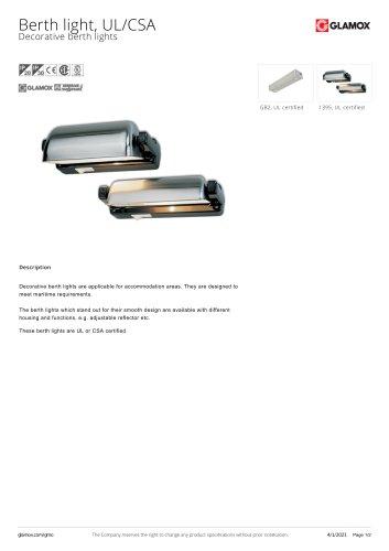 Berth light, UL/CSA