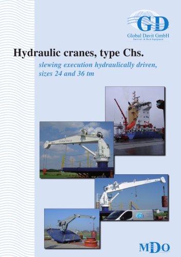 Hydraulic cranes, type Chs. Size 1