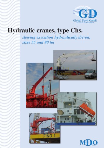 Hydraulic cranes, type Chs. Size 2