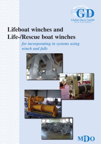 Lifeboat winches and Life-/Rescue boat winches
