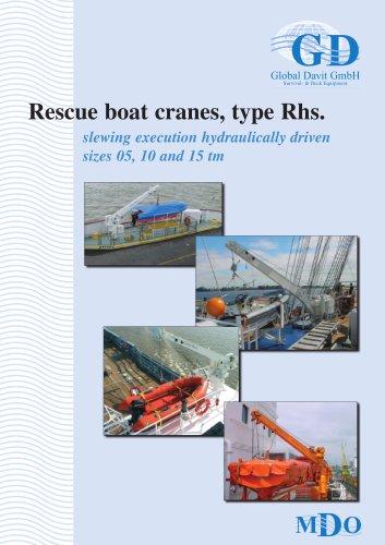 Rescue boat cranes, type Rhs.