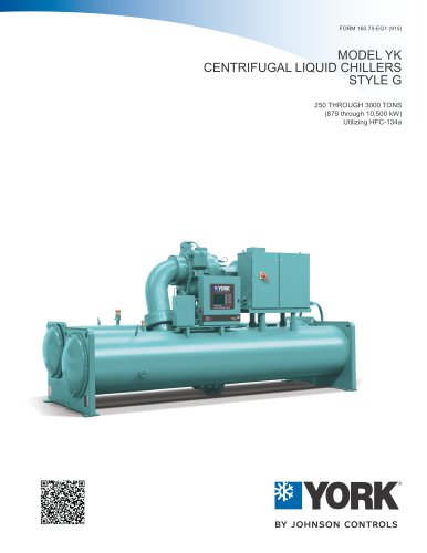 MODEL YK CENTRIFUGAL LIQUID CHILLERS STYLE G