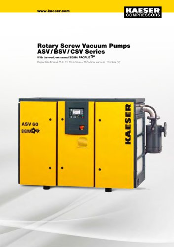Rotary Screw Vacuum Pumps ASV / BSV / CSV Series