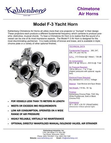 Model F-3 Yacht Horn