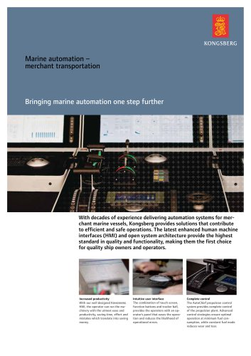 K-Chief 600 marine automation system