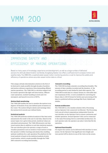 Vessel motion monitoring