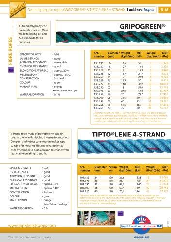 Gripogreen & Tiptolene 4 strand (R18)