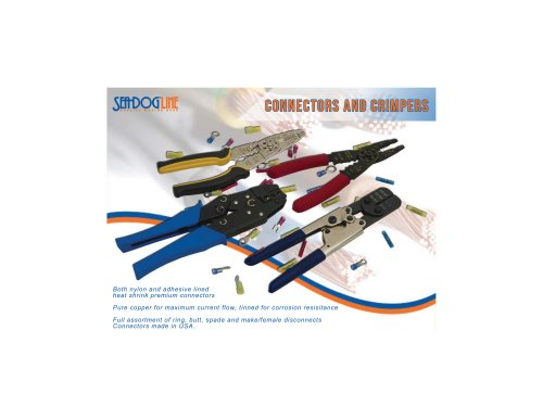 CONNECTORS AND CRIMPERS