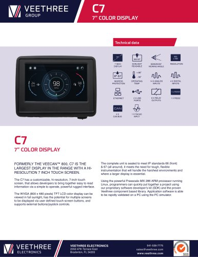 "C7 - 7"" Color Display"