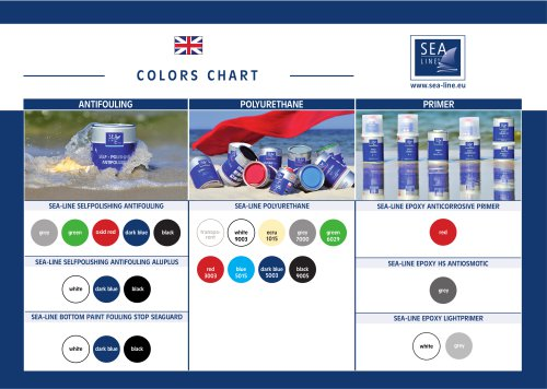 COLORS CHART paint Sea-Line
