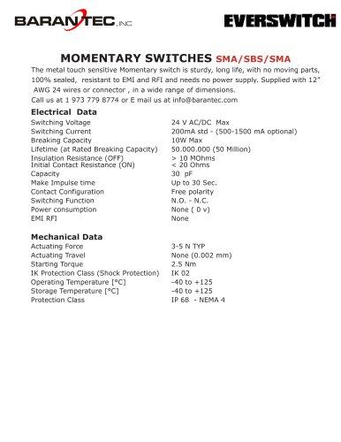 MOMENTARY SWITCHES SMA/SBS/SMA
