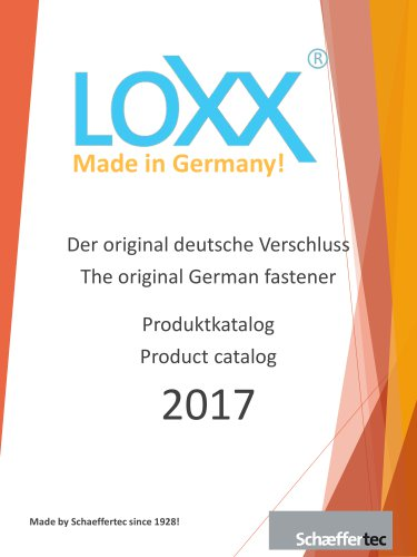 LOXX® - Lifestyle Cataloge 2017
