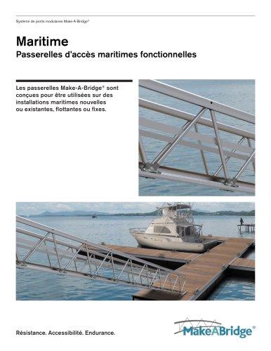 Make-A-Bridge® Passerelles d?accès maritimes fonctionnelles