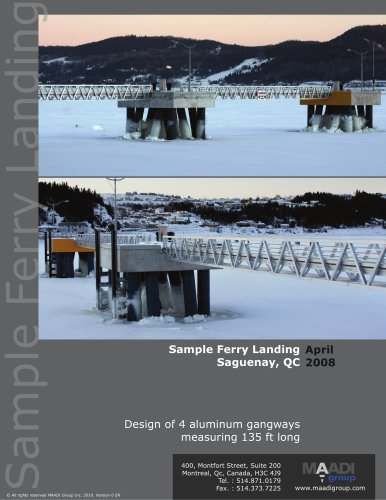 Sample ferry landing