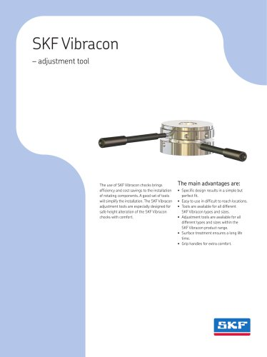 Adjustment tools for SKF Vibracon