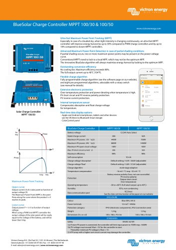 BlueSolar Charge Controller MPPT 100/30 & 100/50