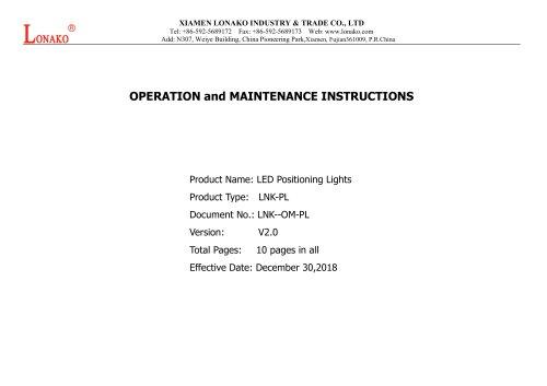 LED Positioning Lights