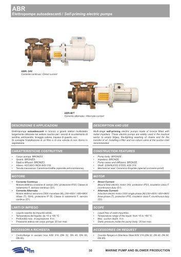 ABR SELF-PRIMING ELECTRIC PUMPS