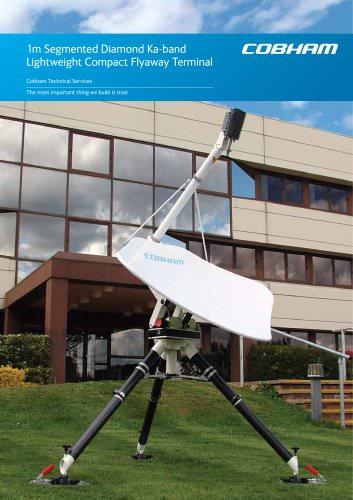 1m Segmented Diamond Ka-band Lightweight Compact Flyaway Terminal