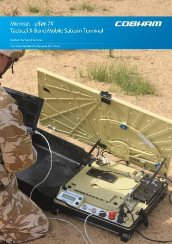 Microsat - ?Sat-7X Tactical X-Band Mobile Satcom Terminal