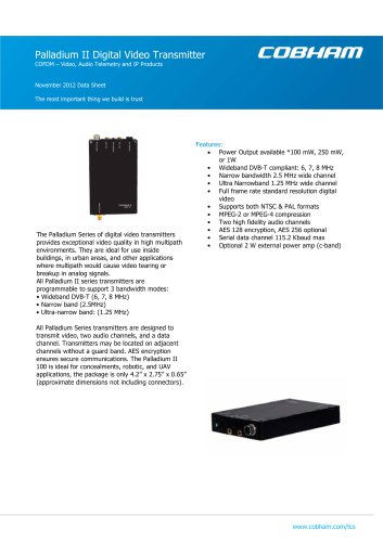 Palladium II Digital Video Transmitter