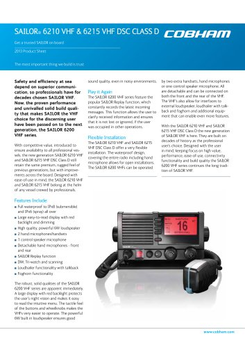SAILOR 6215 VHF DSC Class D