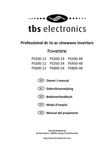 Professional dc to ac sinewave inverters