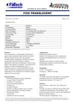 Technical Data Sheet - Fix8 Translucent