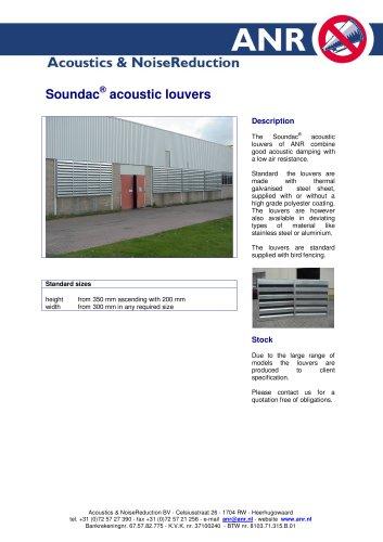 Soundac acoustic louvres