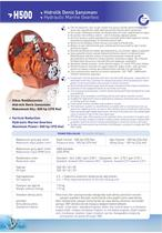 H500 HYDRAULIC MARINE GEARBOX