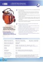 H80 HYDRAULIC MARINE GEARBOX