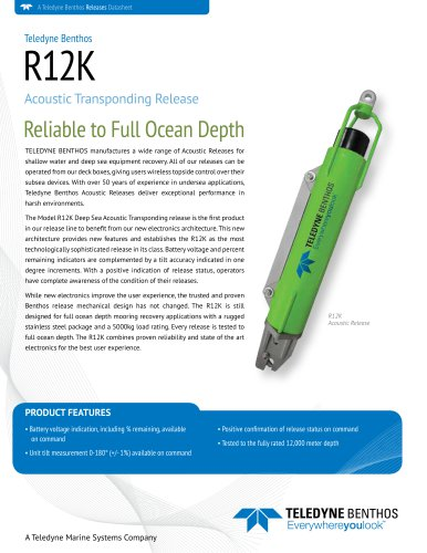 R12K Acoustic Transponding