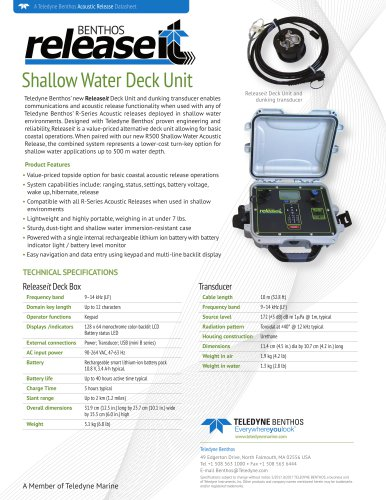 Shallow Water Deck Unit