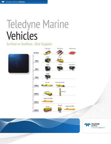 Teledyne Marine Vehicles Comparison Brochure